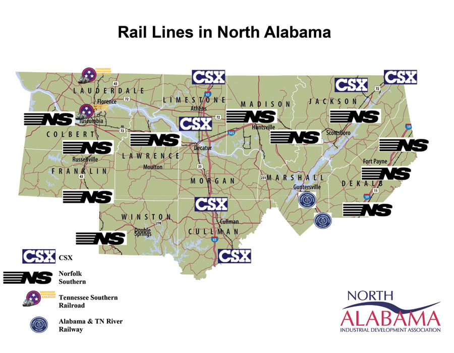 North Alabama Rail Lines